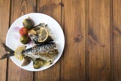Peixes cozinhados da cavala Fotos de Stock