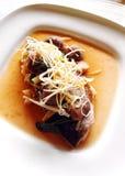 Peixes cozinhados, estilo chinês fotos de stock royalty free