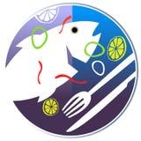 Peixes cozinhados na placa Imagem de Stock Royalty Free