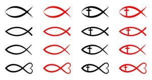 Peixes cristãos Fotografia de Stock