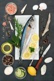 Peixes da cavala para comer saudável Foto de Stock Royalty Free