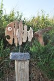 Peixes da madeira lançada à costa Fotos de Stock Royalty Free