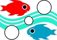 Peixes da natação ilustração stock