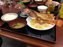 Peixes de alimento japoneses fritados Fotografia de Stock Royalty Free