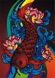 Peixes de Arwana ilustração stock