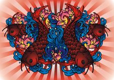 Peixes de Arwana ilustração royalty free