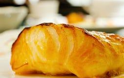 Peixes de bacalhau sauteed Foto de Stock Royalty Free