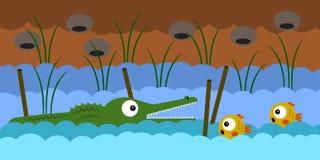 Peixes de espera Imagem de Stock