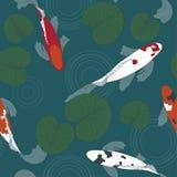 Peixes de Koi na lagoa ilustração stock
