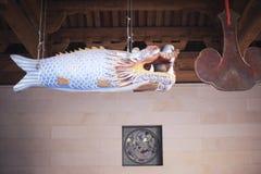Peixes de madeira do templo do nanputuo Fotos de Stock Royalty Free