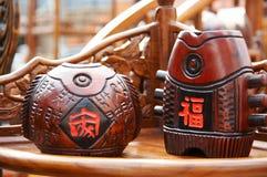Peixes de madeira statuary Fotos de Stock Royalty Free