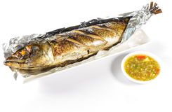 Peixes de Saba grelhados Imagem de Stock