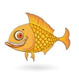 Peixes de sorriso dos desenhos animados Imagem de Stock