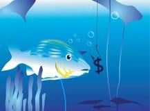 Peixes de travamento ilustração royalty free