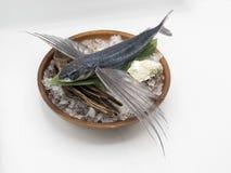 Peixes de voo prontos para o cozinheiro na culinária japonesa fotos de stock royalty free