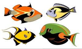 Peixes decorativos originais Imagem de Stock