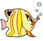 Peixes do aquário dos desenhos animados Fotos de Stock