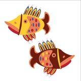 Peixes do aquário no fundo branco Fotografia de Stock Royalty Free