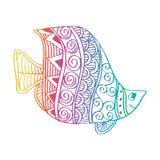 Peixes do desenho da mão Imagem de Stock