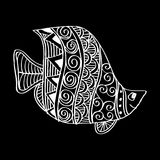 Peixes do desenho da mão Fotos de Stock