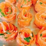 Peixes do gourmet do alimento de Salmon Roses imagens de stock royalty free