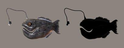 Peixes do monstro ilustração do vetor