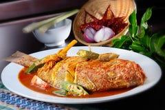Peixes do sambal Fotografia de Stock