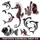 Peixes do tatuagem Fotografia de Stock Royalty Free