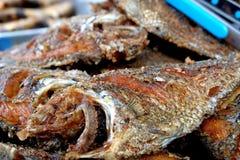 Peixes do Tilapia fritados Foto de Stock Royalty Free