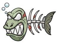 Peixes do zombi dos desenhos animados Fotografia de Stock Royalty Free