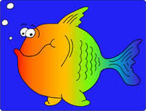 Peixes dos desenhos animados ilustração royalty free