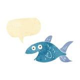 peixes dos desenhos animados com bolha do discurso Fotografia de Stock