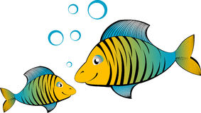 Peixes dos desenhos animados do vetor Foto de Stock