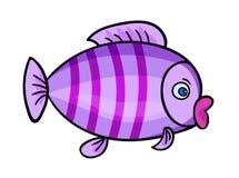 Peixes dos desenhos animados em white1-01 Imagem de Stock