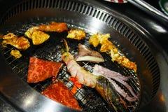 Peixes e camarões Fotografia de Stock