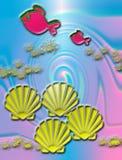 Peixes e escudos ilustração do vetor