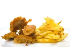 Peixes e fritadas Fotografia de Stock Royalty Free