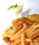 Peixes e fritadas Fotos de Stock