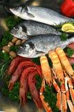 Peixes e marisco mediterrâneos Fotografia de Stock