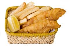 Peixes e microplaquetas Fotos de Stock Royalty Free