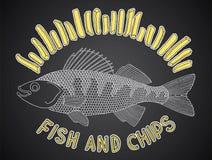 Peixes e microplaquetas 1 Ilustração Royalty Free