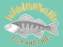 Peixes e microplaquetas 2 Ilustração Stock