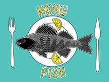 Peixes e microplaquetas 2 Ilustração Royalty Free