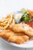 Peixes e microplaquetas Fotos de Stock