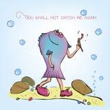 Peixes e sem-fim antropomórficos ilustração stock