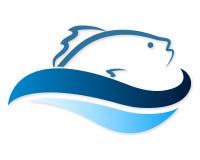 Peixes em ondas ilustração do vetor