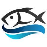 Peixes em ondas ilustração royalty free