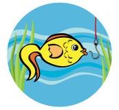 Peixes em um gancho Imagens de Stock