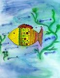 Peixes engraçados. ilustração royalty free
