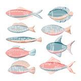 Peixes engraçados da garatuja Foto de Stock Royalty Free